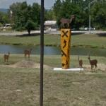 'Deer Crossing' by Jim Collins (StreetView)