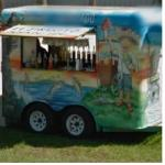 Latino Stereotype Painted On A Foodcart (StreetView)