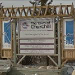 """The Town of Churchill"" sign"