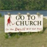 Bible Belt sign