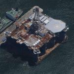 SEDCO Oil Rig docked in Cape Town (Google Maps)