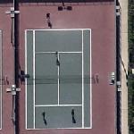 Tennis match in progress