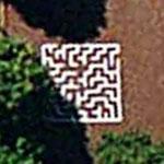 Maze in schoolyard (Google Maps)