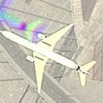 Plane in Flight (Google Maps)