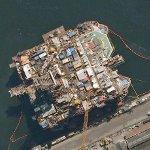 Oil platform in Rio Port (Google Maps)