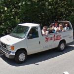 Tour Bus Outside The Osbournes/Christina Aguilera's House (StreetView)