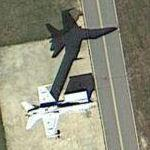 F-18 on Radar Mast (Google Maps)