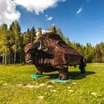 European bison sculpture