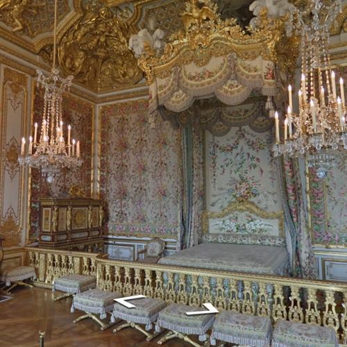 Marie-Antoinette's Bedchamber, Versailles (StreetView)