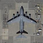 Indian Air Force's first C-17 (Google Maps)