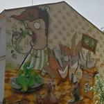 Breakfast of Champions mural in Bydgoszcz
