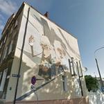 Selfsketching mural in Bydgoszcz