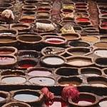 Leather tanning in Fes