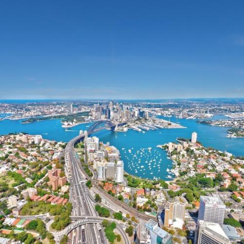 Aerial View From Above North Sydney In North Sydney