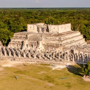 View of Chichen Itza from El Castillo (StreetView)