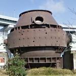 Bessemer converter on display