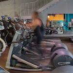 Person on an Elliptical Trainer