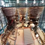 Saturn V second stage rocket engines (StreetView)
