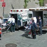 Person Being Loaded into Ambulance (StreetView)
