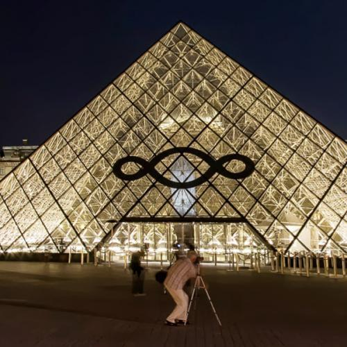 Louvre Museum at night (StreetView)