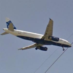 jetBlue Airbus A320 (StreetView)