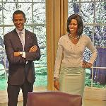 Barack and Michelle Obama wax figures (StreetView)