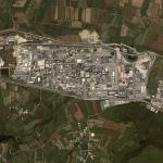 La Hague nuclear reprocessing plant (Google Maps)