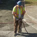 Guy on a jackhammer (StreetView)