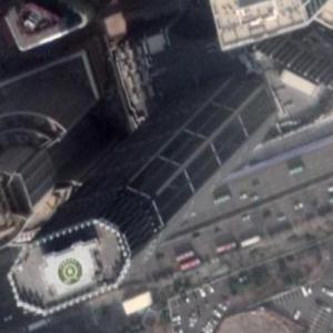 Dalian International Trade Center under construction (Google Maps)