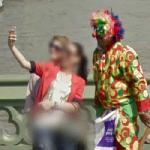 Selfie with a clown (StreetView)