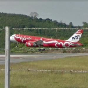 "Thai AirAsia Airbus A320-200 ""Carabao"" [HS-ABJ] (StreetView)"