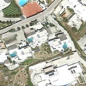 The Kardashians Mykonos rental villas (Google Maps)