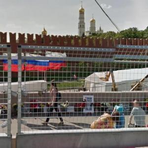 Killing of Boris Nemtsov site (StreetView)
