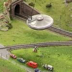 UFO and alien at Miniatur Wunderland (StreetView)