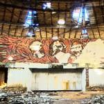 Marx Engels and Lenin mosaique in the Buzludzha
