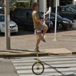 Juggler on a Unicycle (StreetView)