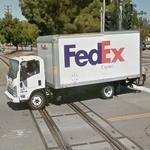 FedEx truck (StreetView)