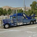 Tow truck with three axles (StreetView)