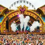 Laidback Luke on the stage at Tomorrowland Music Festival