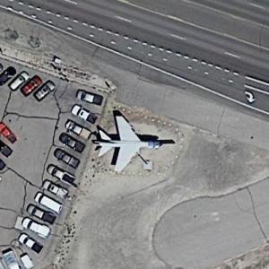 A-7 Corsair near Navy's Top Gun (Google Maps)