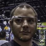 Person wearing Google Glass (StreetView)