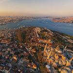 Aerial view of Istanbul (StreetView)