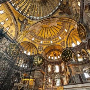 Inside the Hagia Sophia (StreetView)