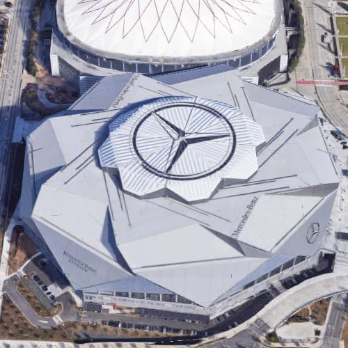 Mercedes-Benz Stadium in Atlanta, GA (Google Maps)