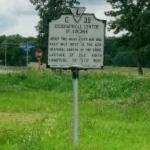 Geographical center of Virginia marker (StreetView)