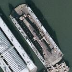 German Type 206 submarine in drydock (Google Maps)