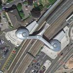 Newport railway station passenger bridge by Atkins Engineers (Google Maps)