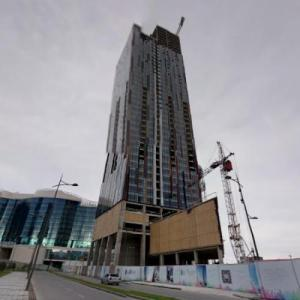 Porta Batumi Tower under construction (StreetView)
