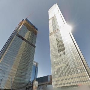 Neva Towers under construction (StreetView)
