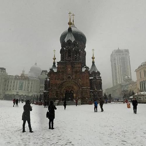 Saint Sophia Cathedral in Harbin (StreetView)